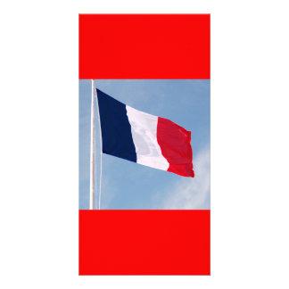Bandera de Francia Tarjetas Fotográficas