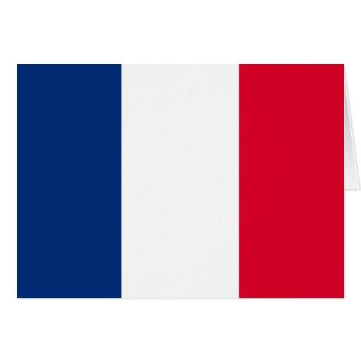 Bandera de Francia Tarjetón