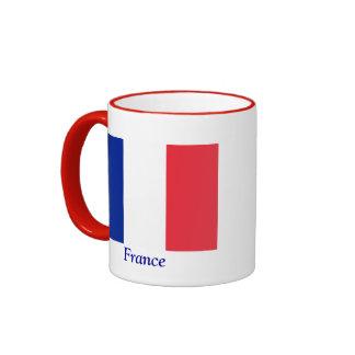 Bandera de Francia Taza