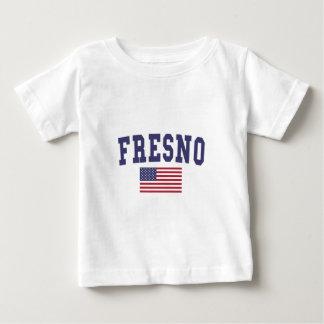 Bandera de Fresno los E.E.U.U. Playera De Bebé