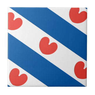 Bandera de Frisia Azulejo Cuadrado Pequeño