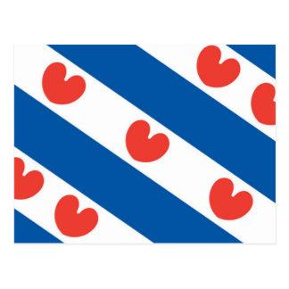 Bandera de Frisia Tarjeta Postal