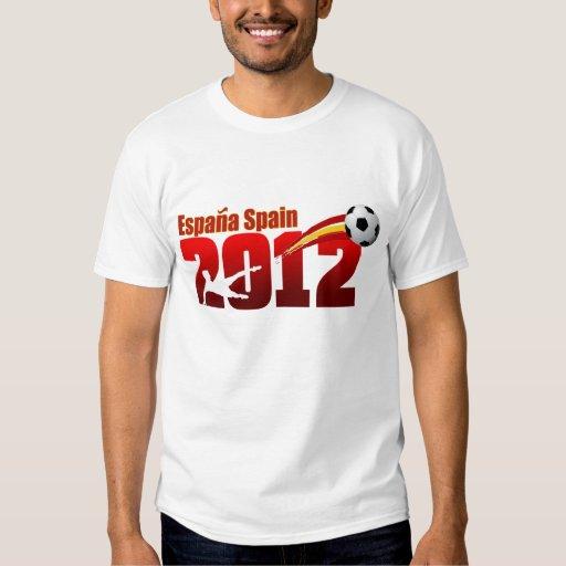 Bandera de Futbol España del europeo de la taza Poleras