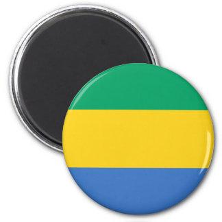 Bandera de Gabón Imán Redondo 5 Cm