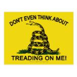 Bandera de Gadsden actualizada Tarjeta Postal