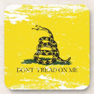 Bandera de Gadsden del Grunge Posavaso