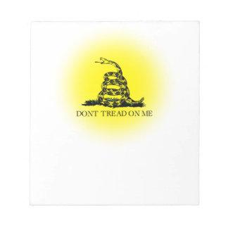 Bandera de Gadsden del resplandor solar Blocs De Papel