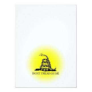 """Bandera de Gadsden del resplandor solar Invitación 5.5"""" X 7.5"""""""