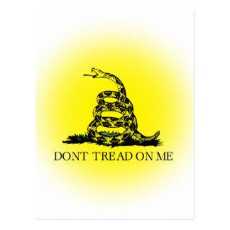 Bandera de Gadsden del resplandor solar Postales