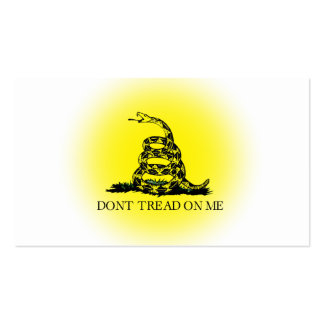 Bandera de Gadsden del resplandor solar Plantillas De Tarjetas De Visita