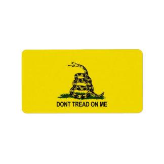 Bandera de Gadsden Etiquetas De Dirección