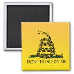 Bandera de Gadsden, fondo amarillo Imanes