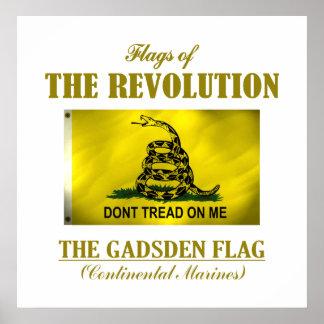 Bandera de Gadsden (FR) Póster