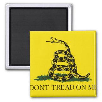 Bandera de Gadsden Imán Cuadrado