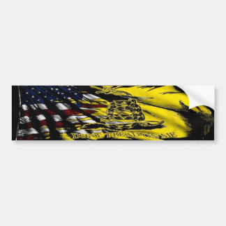 Bandera de Gadsden - libertad o muerte Etiqueta De Parachoque