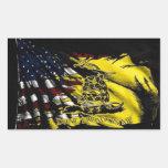 Bandera de Gadsden - libertad o muerte Etiqueta
