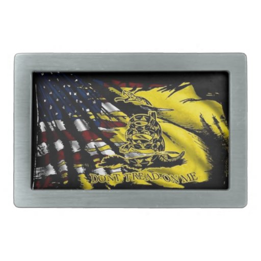 Bandera de Gadsden - libertad o muerte Hebilla Cinturon Rectangular