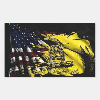 Bandera de Gadsden - libertad o muerte Pegatina Rectangular