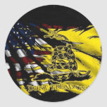 Bandera de Gadsden - libertad o muerte Etiquetas Redondas