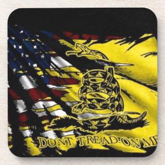 Bandera de Gadsden - libertad o muerte Posavasos