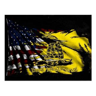 Bandera de Gadsden - libertad o muerte Postal
