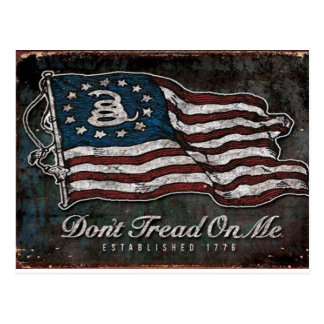Bandera de Gadsden - libertad o muerte Tarjetas Postales