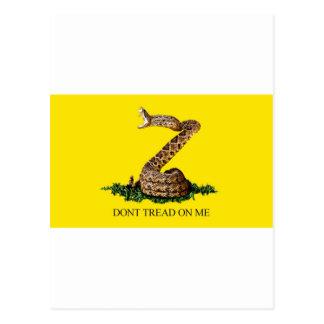 Bandera de Gadsden llena Tarjeta Postal