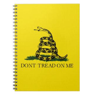 Bandera de Gadsden - no pise en mí Libros De Apuntes