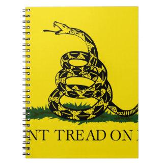 Bandera de Gadsden - no pise en mí Notebook