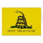Bandera de Gadsden - no pise en mí Tarjeta De Felicitación