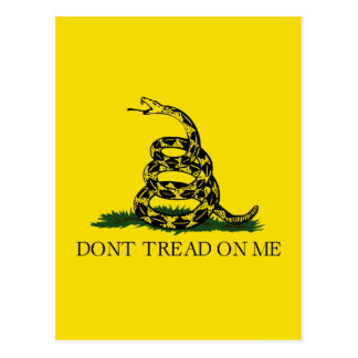 Bandera de Gadsden - no pise en mí Tarjeta Postal