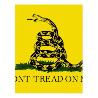 Bandera de Gadsden - no pise en mí Tarjetas Postales