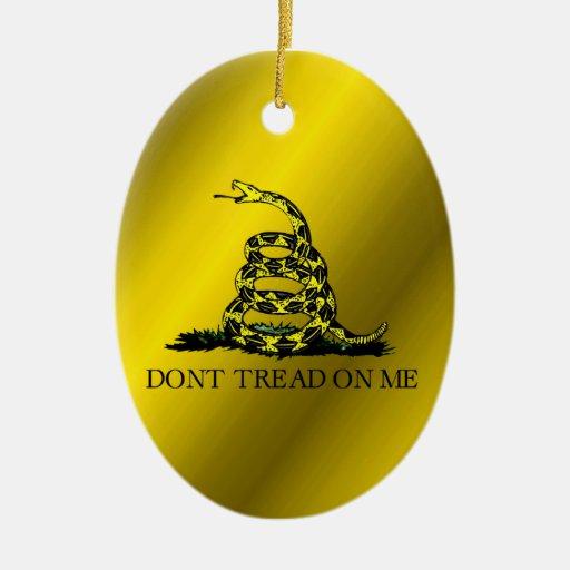 Bandera de Gadsden Ornamento Para Arbol De Navidad
