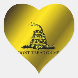 Bandera de Gadsden Pegatina En Forma De Corazón