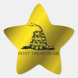 Bandera de Gadsden Pegatina En Forma De Estrella