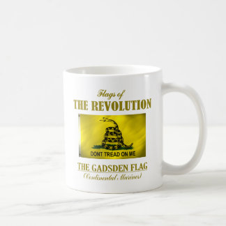 Bandera de Gadsden Taza Básica Blanca