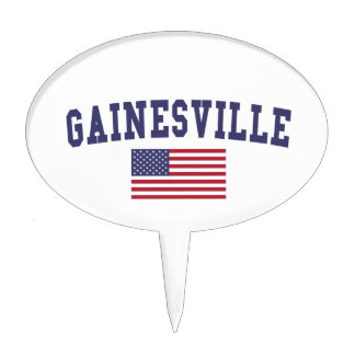 Bandera de Gainesville FL los E.E.U.U. Decoraciones Para Tartas