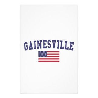 Bandera de Gainesville FL los E.E.U.U. Papeleria De Diseño