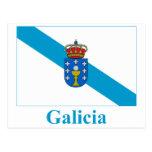 Bandera de Galicia con nombre Tarjetas Postales
