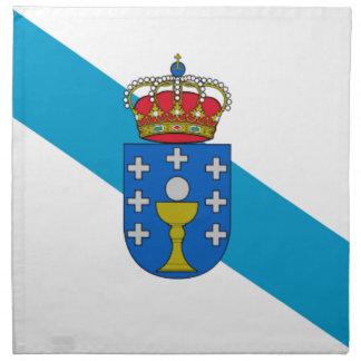 Bandera de Galicia (España) Servilleta Imprimida