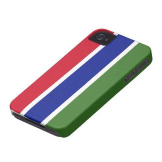 Bandera de Gambia Case-Mate iPhone 4 Carcasa