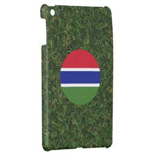 Bandera de Gambia en hierba
