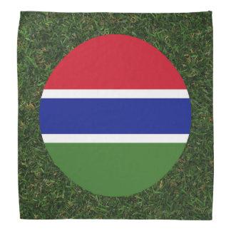 Bandera de Gambia en hierba Bandanas