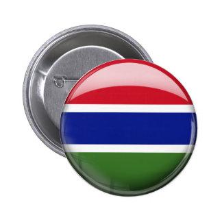 Bandera de Gambia en vidrio Pin Redondo De 2 Pulgadas
