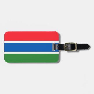 Bandera de Gambia Etiquetas Para Maletas