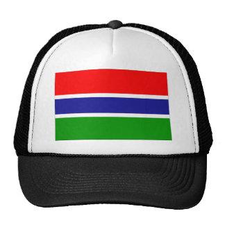 Bandera de Gambia Gorros Bordados