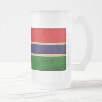 Bandera de Gambia Jarra De Cerveza Esmerilada