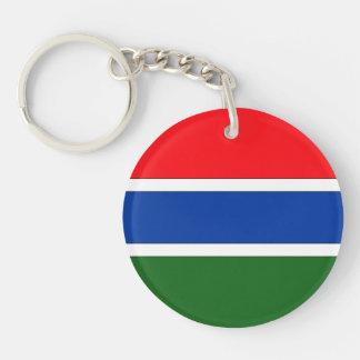Bandera de Gambia Llavero Redondo Acrílico A Doble Cara
