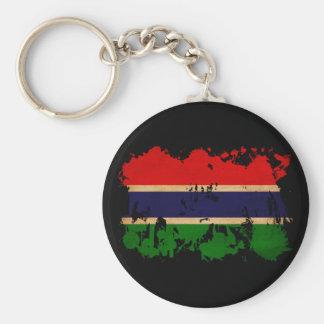 Bandera de Gambia Llavero Redondo Tipo Pin