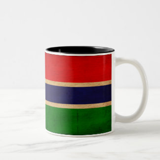 Bandera de Gambia Taza De Café De Dos Colores
